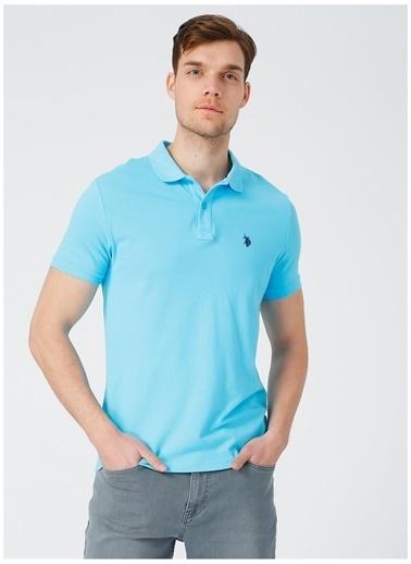 U.S. Polo Assn. U.S. Polo Assn. Slim Fit Erkek T-Shirt Turkuaz